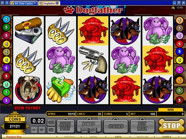 Just Hit The Dogfather Slot Game Reels